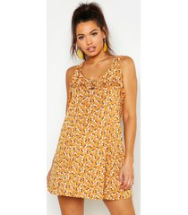 maternity ditzy floral sundress, yellow