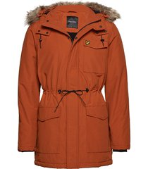 winter weight microfleece jacket parka jas oranje lyle & scott