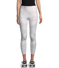 workshop women's camo leggings - light grey - size m
