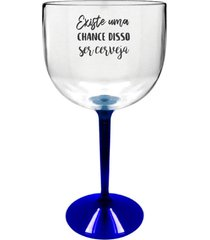 2 taã§as gin transparente com base azul personalizada para live - transparente - dafiti