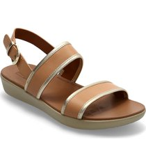 barra mixed metallics back-strap sandals shoes summer shoes flat sandals brun fitflop