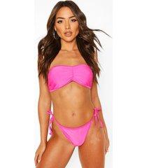 basic bandeau bikini, hot pink