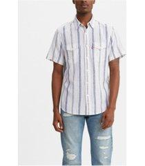 levi's men's classic clean short sleeve western shirt