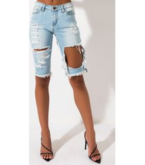 akira i can see it bermuda denim short