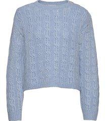 tola stickad tröja blå custommade