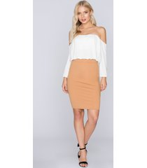 fayt brad skirt - brown