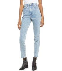 women's slvrlake beatnik high waist ankle slim jeans, size 27 - blue