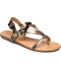 biabecca verona leather sandal shoes summer shoes flat sandals guld bianco