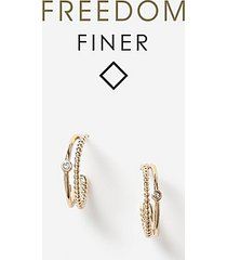 *freedom finer crystal hoop earrings - clear
