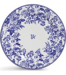 conjunto de pratos cerâmica sobremesa blue garden 4pcs cj11 - kanui