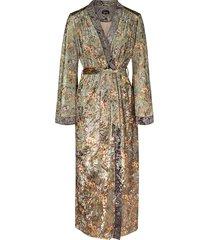 mila soft green velvet kimono