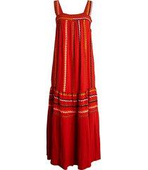 embroidered silk tank dress