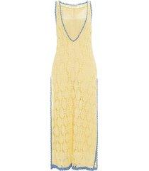 contrasted seam crochet dress