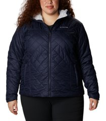 columbia plus size copper crest hooded quilted jacket
