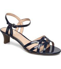 formal shoes others sandal med klack blå esprit casual