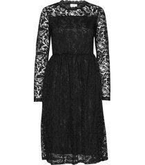 kavilli lace dress jurk knielengte zwart kaffe
