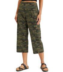 women's sanctuary squad hiker crop pants, size 25 - green