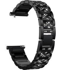 moda diamante brillante metal banda de acero inoxidable pulsera cor