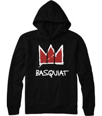 jean michel basquiat samo warhol ny red crown pull over hoodie