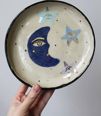 ceramiczny talerz księżyc i gwiazdy 2