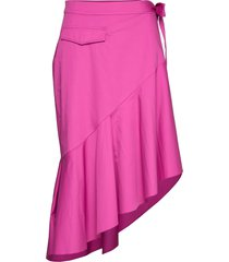rodebjer amalia knälång kjol rosa rodebjer