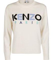 kenzo cream cotton sweatshirt