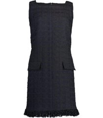 sleeveless square neck shift dress