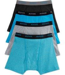 alfani men's 4 pack. cotton boxer briefs, created for macy's