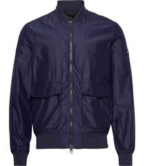 marty-silk nylon bomberjacka jacka blå j. lindeberg
