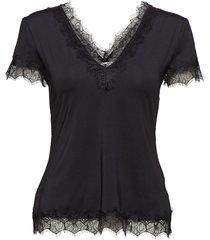 t-shirt ss blouses short-sleeved zwart rosemunde