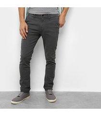 calça slim replay básica masculina