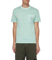 chest pocket logo patch t-shirt