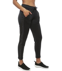 pantalón de buzo under armour ua hg armour mesh ankle crop negro - calce regular