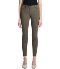 theory women's twill seamed trousers - teak - size 2