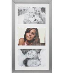 painel insta para 3 fotos com paspatur 18x38cm prata