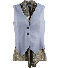brunello cucinelli linen and cotton drill vest