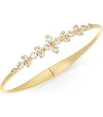 eliot danori gold-tone crystal layla floral hinge-spring bracelet, created for macy's