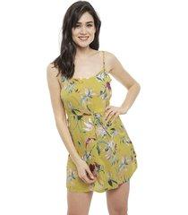 vestido vero moda simply amarillo - calce holgado