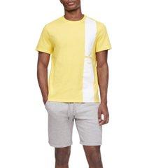 calvin klein men's vertical stripe logo graphic t-shirt