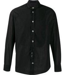 giorgio armani pre-owned cutaway collar shirt - black