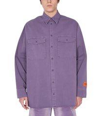 heron preston cotton jacket with maxi pockets