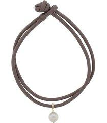 freshwater pearl leather wrap bracelet