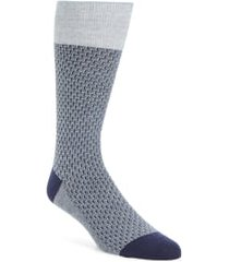 men's cole haan dog bone texture crew socks, size one size - blue
