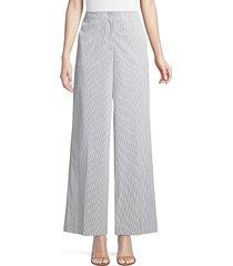 lafayette 148 new york women's kensington urbania stripe pants - ash - size 8