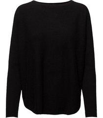 curved sweater gebreide trui zwart davida cashmere