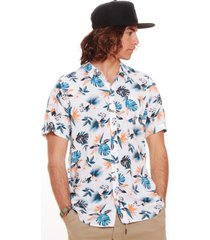 camisa hombre blanco maui and sons