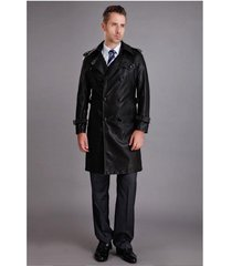 men leather coat winter long  leather coat genuine real leather trench coat-uk5