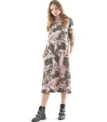 vestido estampado lanilla rosa bous