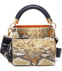 like dreams snakeskin crossbody handbag set