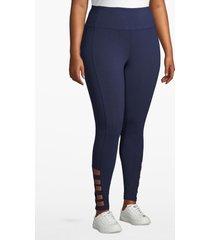 lane bryant women's active 7/8 legging - strappy hem 18/20 navy